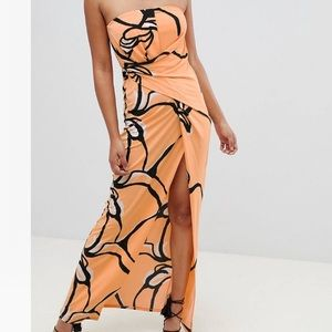 ASOS formal dress with slit